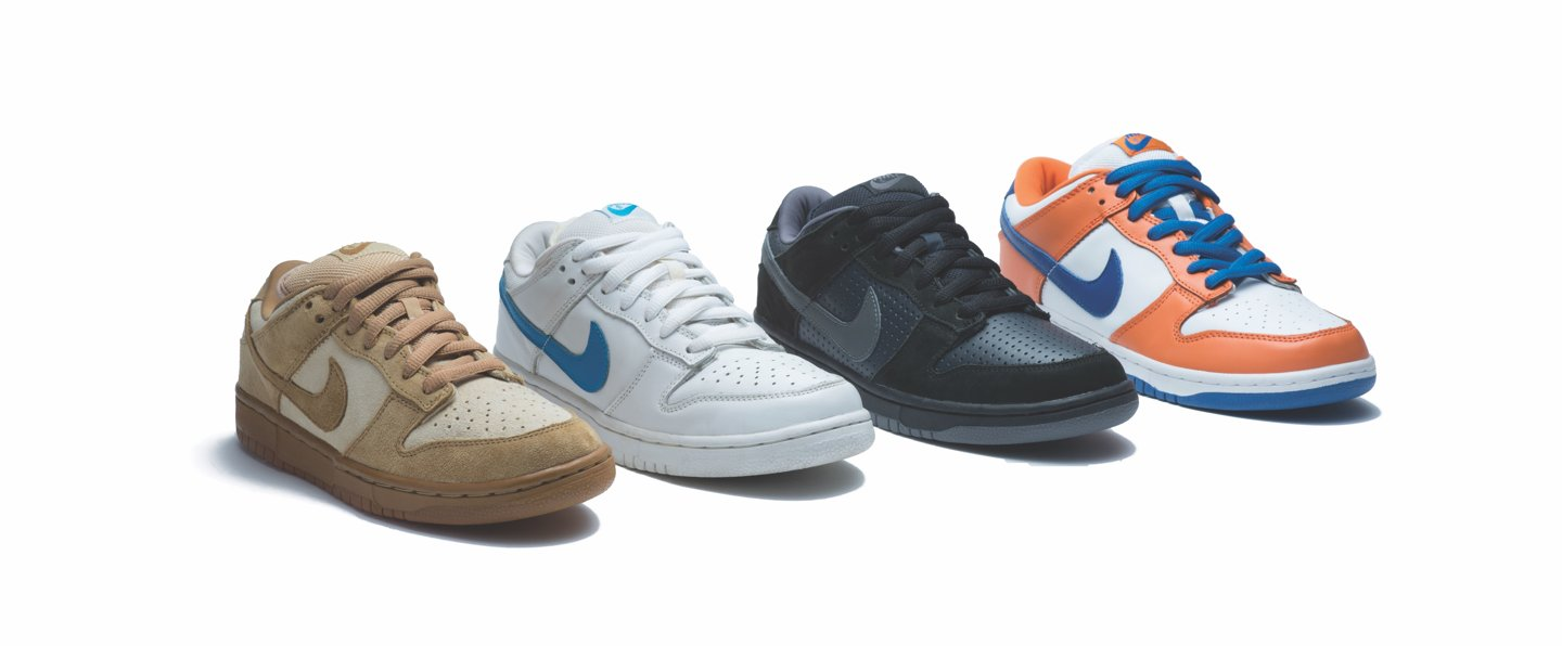 Nike SB 2002 First pro dunks collection